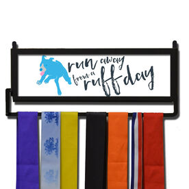 RunnersWALL Run Away From a Ruff Day Medal Display