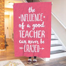 Personalized Teacher Premium Blanket - Never Be Erased