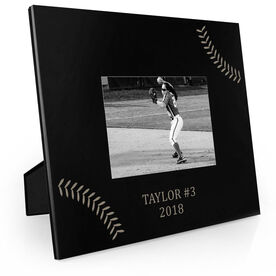 Softball Engraved Picture Frame - Stitches