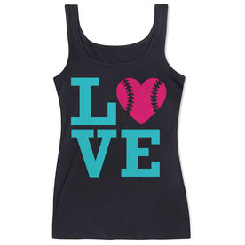 Softball Women's Athletic Tank Top LOVE