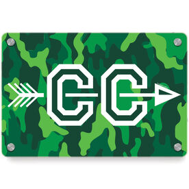 Cross Country Metal Wall Art Panel - With Arrows
