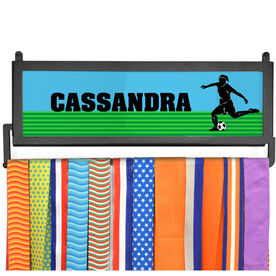 AthletesWALL Medal Display - Personalized Soccer Girl