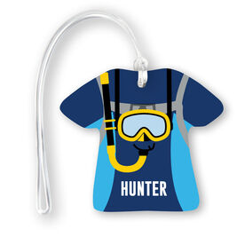 Personalized Jersey Bag/Luggage Tag - Scuba Outfit