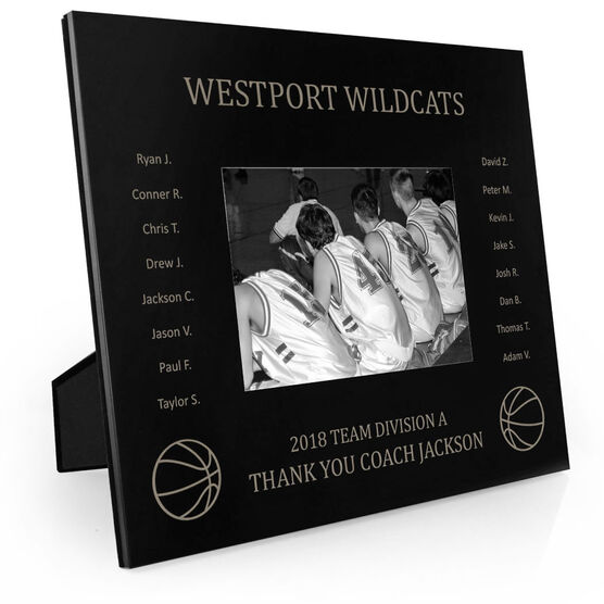 Basketball Engraved Picture Frame - Team Name With Roster