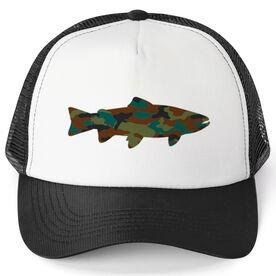 Fly Fishing Trucker Hat - Camo Fish