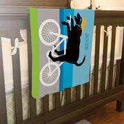 Triathlon Baby Blanket - Toby The Triathlon Dog