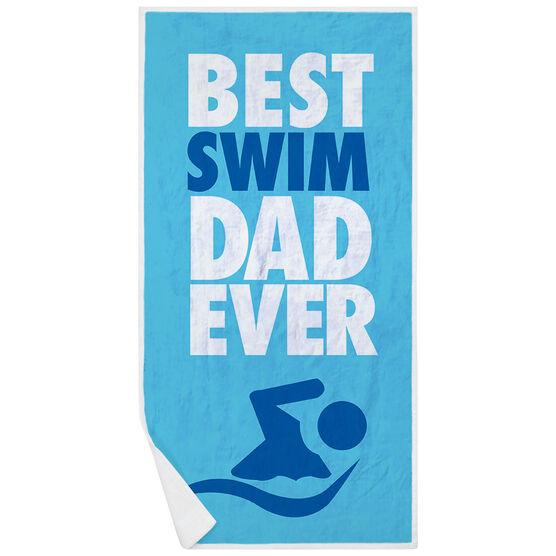 Swimming Premium Beach Towel - Best Dad Ever