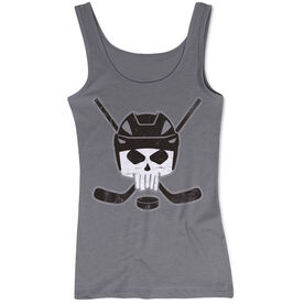 Hockey Women's Athletic Tank Top - Hockey Helmet Skull