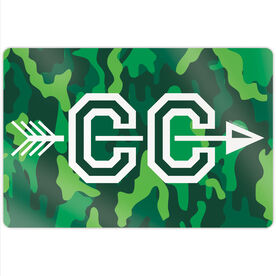 """Cross Country 18"""" X 12"""" Aluminum Room Sign - With Arrows"""