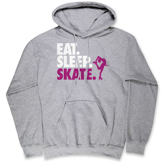 Figure Skating Hooded Sweatshirt - Eat. Sleep. Skate.