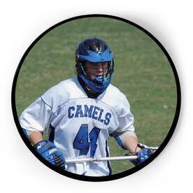 Guys Lacrosse Circle Plaque - Custom Photo