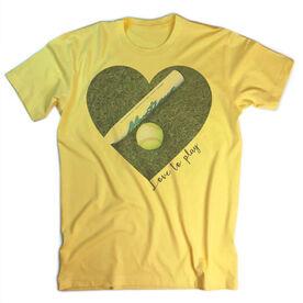 Vintage Softball T-Shirt - Love To Play