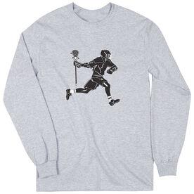 Guys Lacrosse Long Sleeve T-Shirt - Lax Player