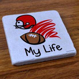My Life Football - Stone Coaster