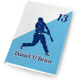 Baseball Notebook Personalized Batter Silhouette