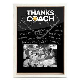 Softball Premier Wooden Frame - Thanks Coach