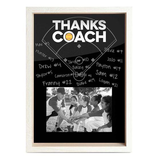 Softball Premier Frame - Thanks Coach