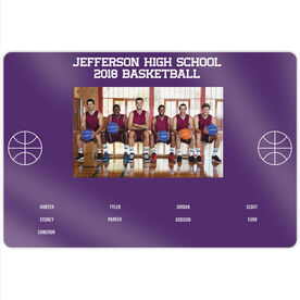 "Basketball 18"" X 12"" Aluminum Room Sign - Team Photo With Roster"