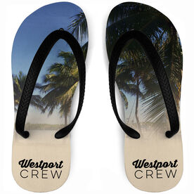 Crew Flip Flops Personalized Palm Trees