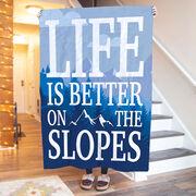 Skiing & Snowboarding Premium Blanket - Life Is Better On The Slopes