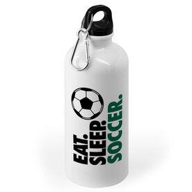 Soccer 20 oz. Stainless Steel Water Bottle - Eat. Sleep. Soccer.