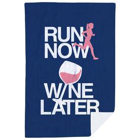 Running Premium Blanket - Run Now Wine Later (Bold)