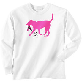 Soccer Tshirt Long Sleeve Sasha the Soccer Dog