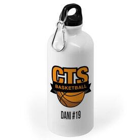 Basketball 20 oz. Stainless Steel Water Bottle - Custom Logo