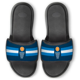 Basketball Repwell™ Slide Sandals - Simple Stripe