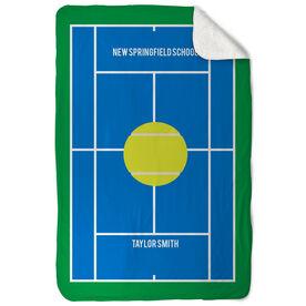 Tennis Sherpa Fleece Blanket - Court