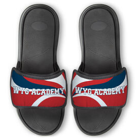 Gymnastics Repwell™ Slide Sandals - Your Text With Waves