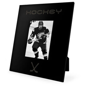 Hockey Engraved Picture Frame Simple Hockey