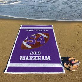 Football Premium Beach Towel - Personalized Team