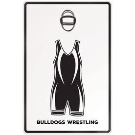 "Wrestling Aluminum Room Sign (18""x12"") Work Clothes"