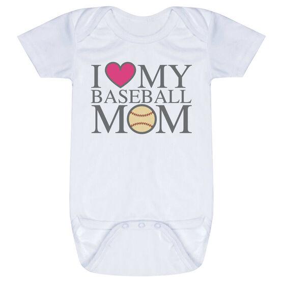 Baseball Baby One-Piece - I Love My Baseball Mom