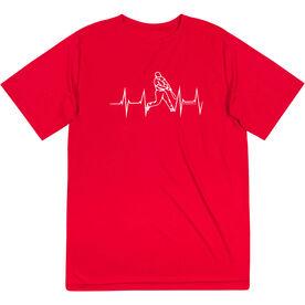 Baseball Short Sleeve Performance Tee - Heart Beat Baseball