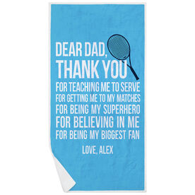 Tennis Premium Beach Towel - Dear Dad