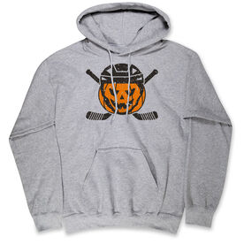 Hockey Hooded Sweatshirt - Helmet Pumpkin