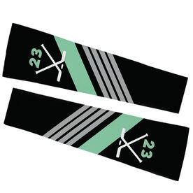Hockey Printed Arm Sleeves - Personalized Hockey Sticks with Stripes