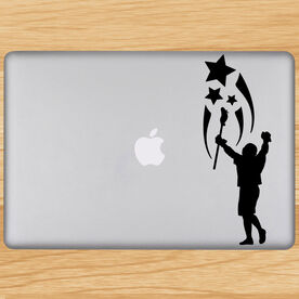 Lacrosse Spirit Removable ChalkTalkGraphix Laptop Decal