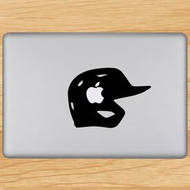 Batting Helmet Removable ChalkTalkGraphix Laptop Decal