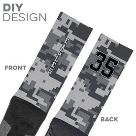 Printed Mid-Calf Socks - Digital Camo Team