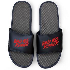 Running Navy Slide Sandals - Bad Ass Runner
