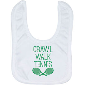 Tennis Baby Bib - Crawl Walk Tennis