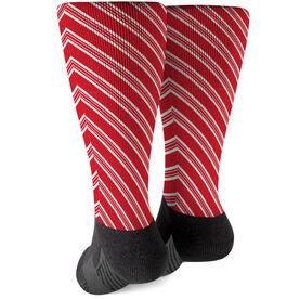 Printed Mid-Calf Socks - Peppermint Stripes