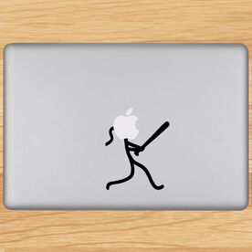 Stick Figure Softball Removable ChalkTalkGraphix Laptop Decal