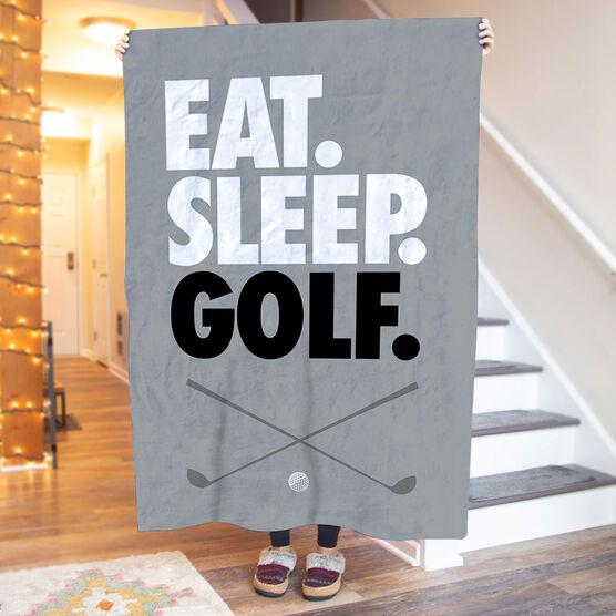 Golf Premium Blanket - Eat. Sleep. Golf. Vertical