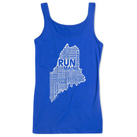 Women's Athletic Tank Top Maine State Runner