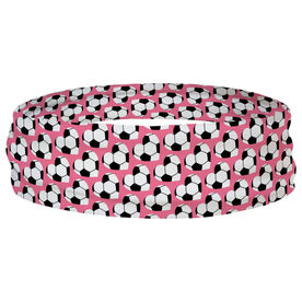 Soccer Multifunctional Headwear - Soccer Ball Hearts RokBAND