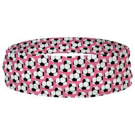 Soccer Multifunctional Headwear - Soccer Ball Hearts RokBAND